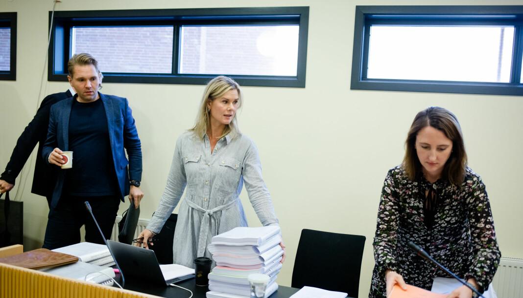 (F.v.) Journalistene Jens Christian Nørve, Sophie Aaserud og Hanne Taalesen ble saksøkt og dømt til å betale oppreisning i 2017. Nå er dommen omgjort i lagmannsretten. Foto: Eskil Wie Furunes