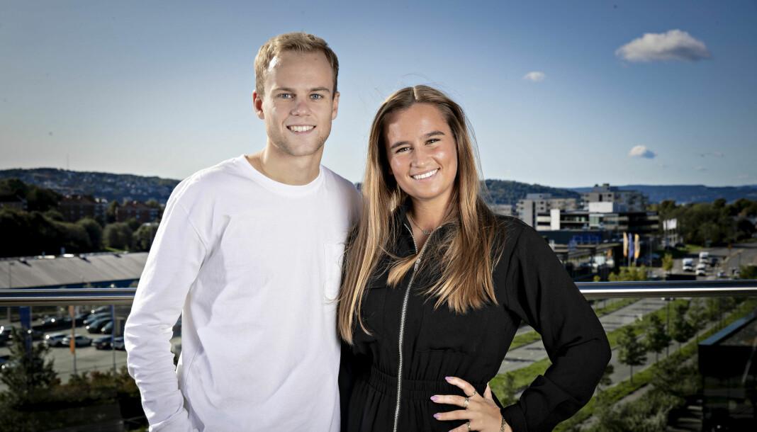 Melina Pambou Sundfør og Henrik Ljosland Waale blir programledere for Dagbladet TVs nye sportsprogram. Foto: Bjørn Langsem