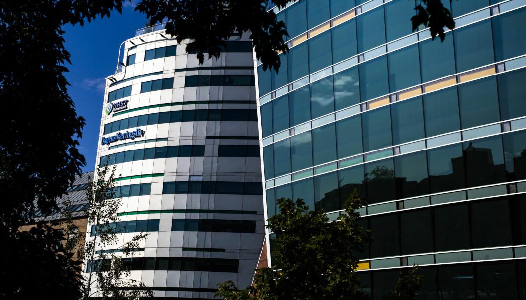 Morgenbladet-redaksjonen holder til i NHST-bygget i Oslo sentrum, sammen med blant andre Dagens Næringsliv. Foto: Kristine Lindebø