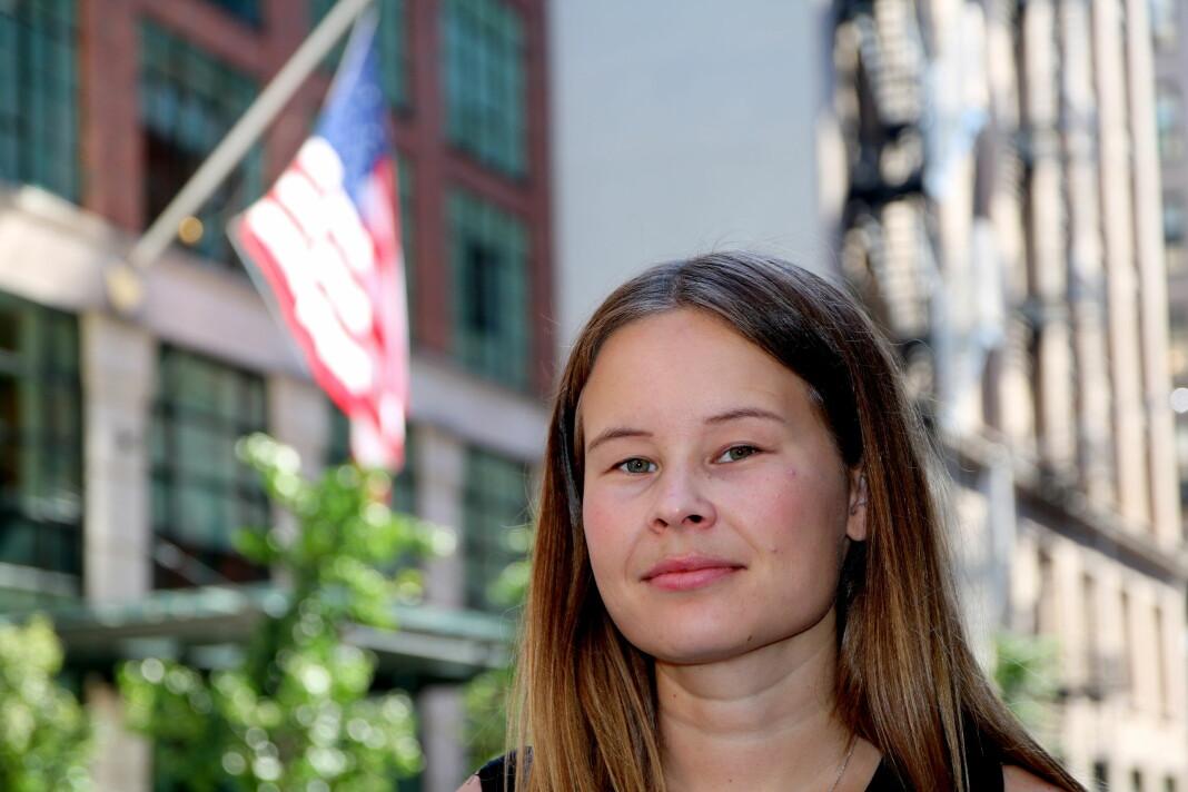 Ny i New York: Maria Mikkelsen fra Tysfjord i Nordland er VGs nye USA-korrespondent. Ilddåpen kom i form av orkanreportasjerykk til Bahamas. Foto: Emil L. Mohr