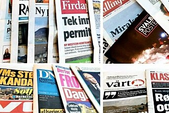 – Stabilt inntektsnivå i norske aviser for første gang siden 2011