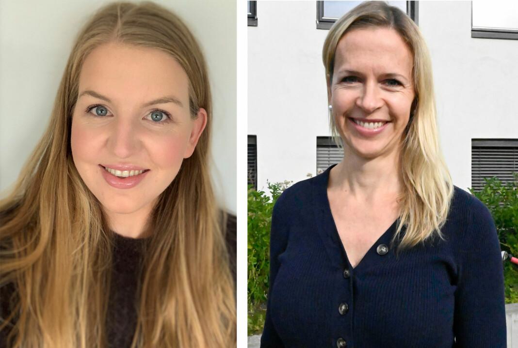 Siri Marie Seim Sønstelie (28) og Kathrine Lunde Solbraa (41) er fast ansatt i Gudbrandsdølen Dagningen. Foto: Privat