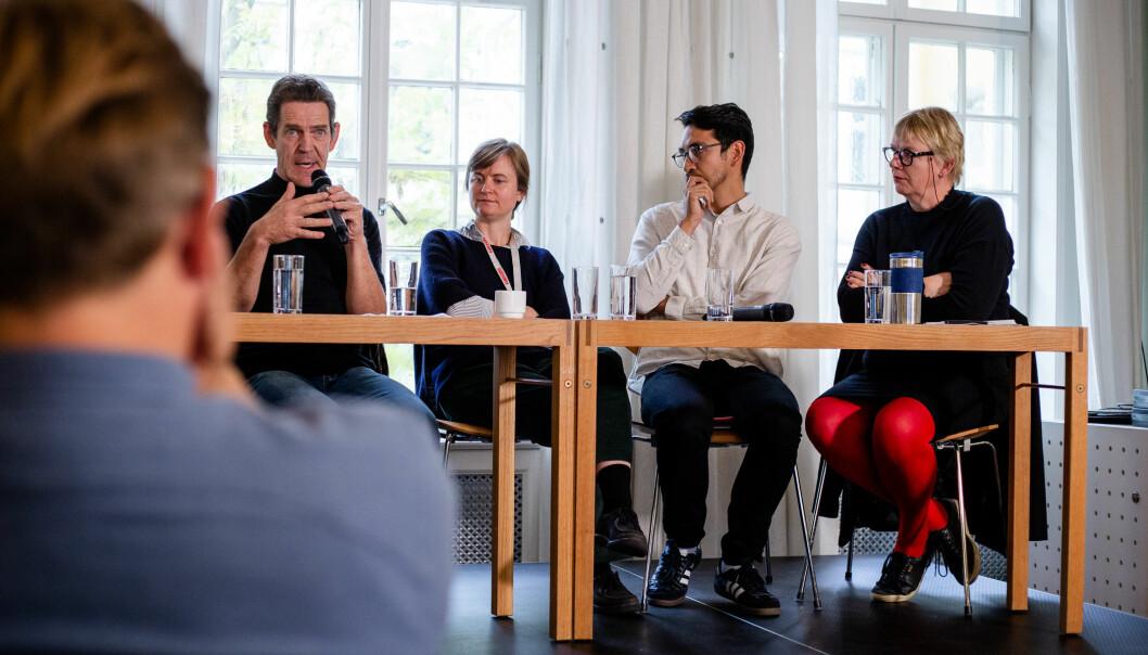 Det stilles langt større krav til frilansjournalister enn fast ansatte, skriver Geir Røed i etterkant av Frilansundersøkelsen. Her er et bilde fra debatten på Fritt Ord onsdag. Foto: Eskil Wie Furunes