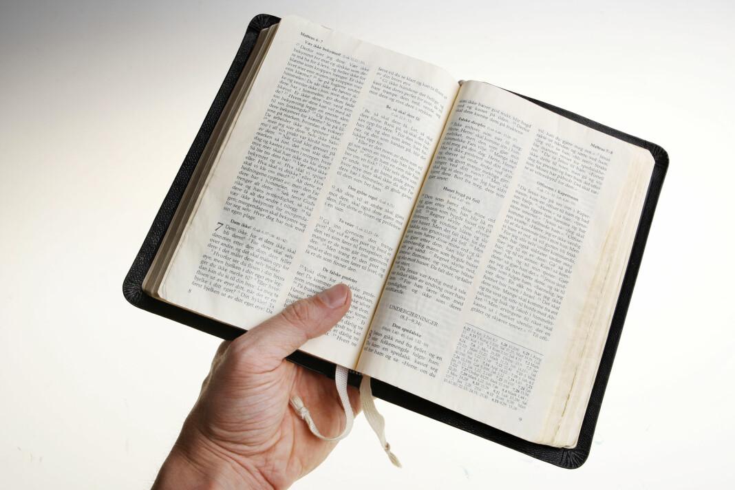 Et av spørsmålene i undersøkelsen handler om hvor ofte kristne leser Bibelen. Foto: Håkon Mosvold Larsen / NTB scanpix
