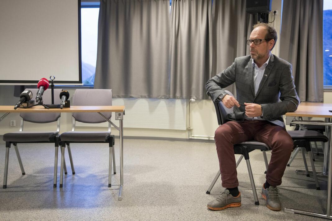 Lars Olav Hustad var ordfører i Rauma kommune gjennom alle de fem årene med intens pressedekning av rasfaren rundt Veslemannen. Foto: Torstein Bøe / NTB scanpix