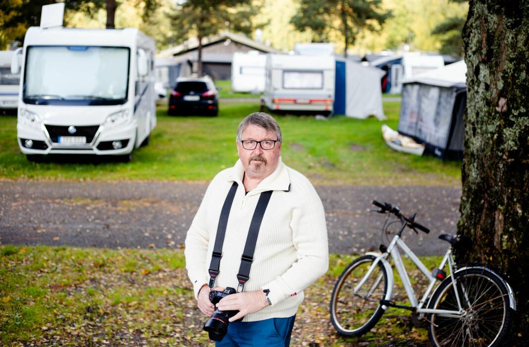 Bogstad Camping var det første hjemmet for Per Flåthe da han begynte å frilanse i Oslo. Nå får han et gjensyn med stedet når han besøker datteren som bor like ved. Foto: Eskil Wie Furunes