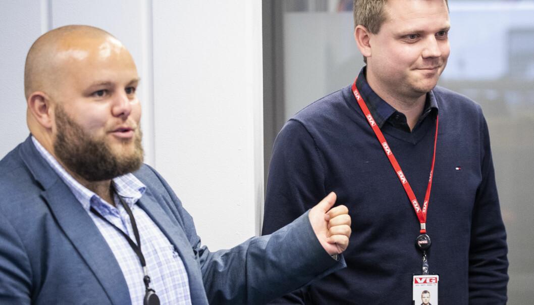 Lars Håkon Grønning (til høyre) blir nummer to under sjefredaktør Gard L. Michalsen i E24. Foto: Tore Kristiansen, VG