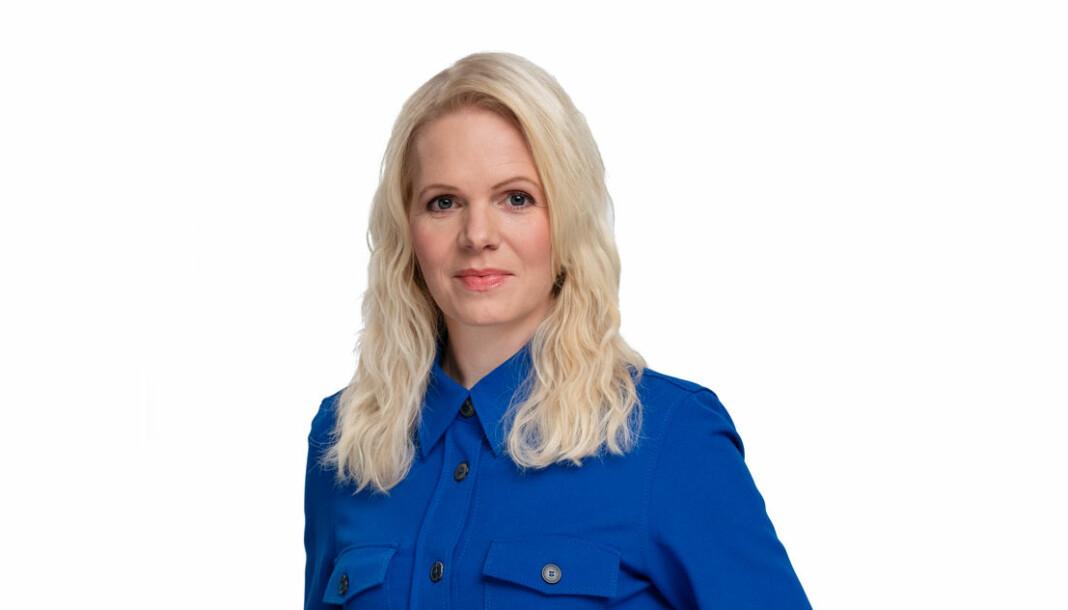 Marte Spurkland er programleder for Helsekontrollen på TV 2. Foto: Espen Solli / TV 2 / NTB scanpix