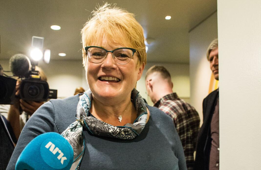 Trine Skei Grande forteller at regjeringen ønsker å øke pressestøtten med 40 millioner kroner. Foto: Mariam Butt / NTB scanpix
