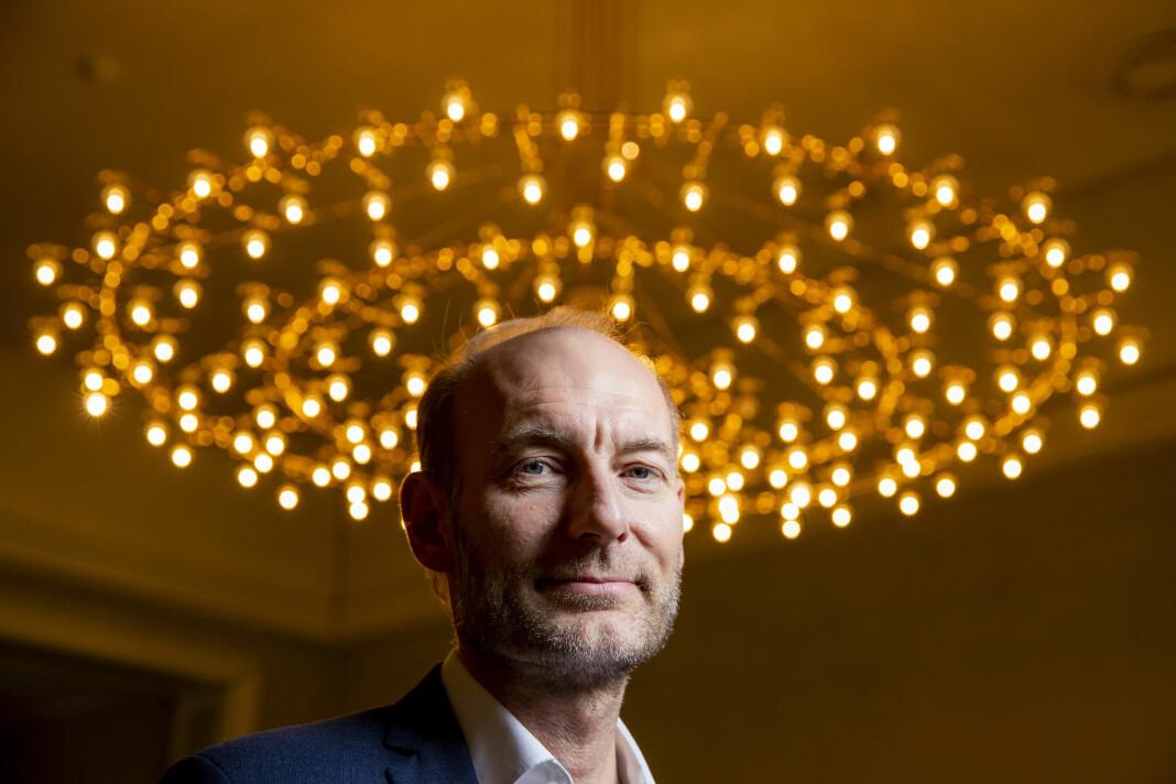 Pengene Fritt Ord har puttet inn i hegdefondet til Nicolai Tangen, har gitt en god avkastning. På bildet Fritt Ord-direktør Knut Olav Åmås.