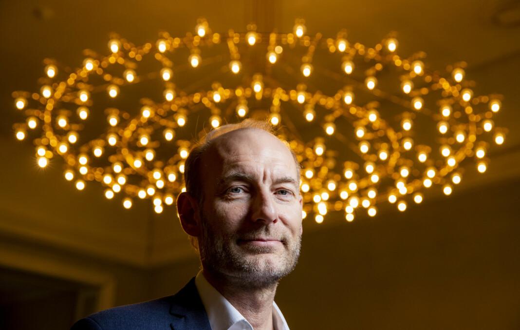 Mange norske journalister har lyst til å jobbe med podkast. Det merker også Fritt Ord. Her ved direktør Knut Olav Åmås. Foto: Håkon Mosvold Larsen / NTB scanpix
