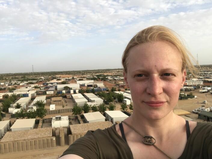 Ylva Seiff Berge er fotojournalist i Forsvarets forum. Her fra Timbuktu, Mali, hennes første «røde sone» som fotograf. Foto: Privat