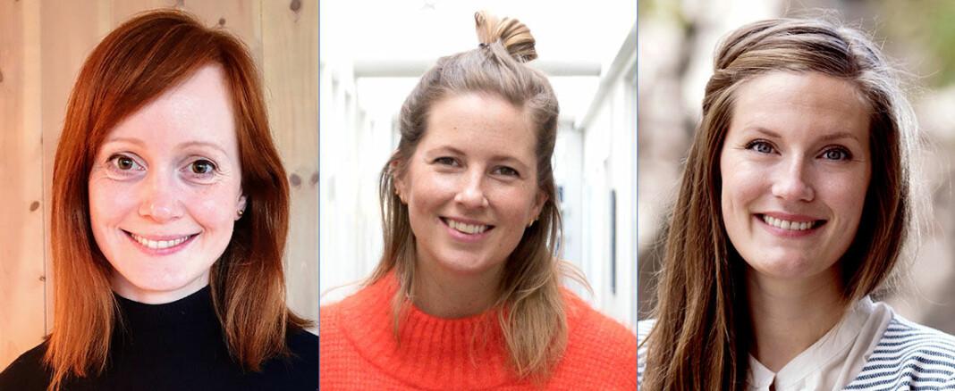 Grethe Wiig Samdal, Marie Havnen og Karoline Fossland er årets finalister i kåringen av Årets talent. Foto: Privat / Eline Kirkebø Karoline Fossland / Schibsted