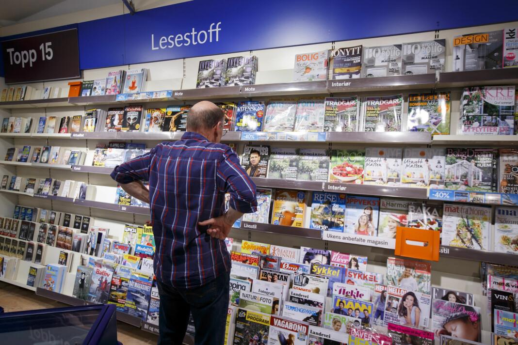 Samlet går magasinlesingen tilbake med 11 prosent, viser de siste lesertallene. Foto: Heiko Junge / NTB scanpix