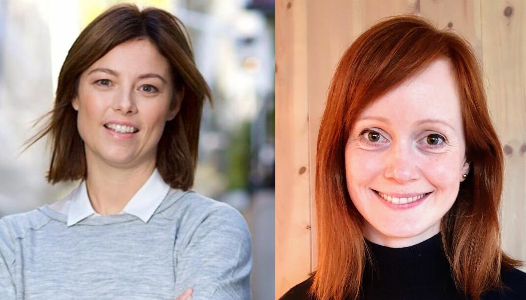 De to vinnerne: Sarah C. J. Willand (TV 2) og Grethe Wiig Samdal (Bergens Tidende). Foto: TV 2 og privat