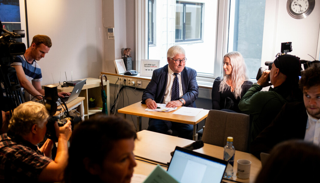 Advokat Knut-Asbjørn Solevåg fulgte klienten Sofie Bakkemyr til PFU-behandling av klagen mot VG. Foto: Eskil Wie Furunes