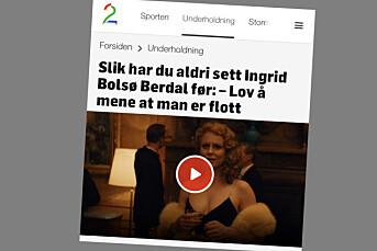 Tapetserte Ingrid Bolsø Berdals lanseringsintervju med nakenbilder fra en annen serie. Nå er de fjernet