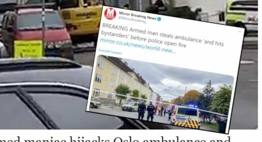 Hendelsen på Torshov preger internasjonale nettaviser: – Plukket opp på Twitter