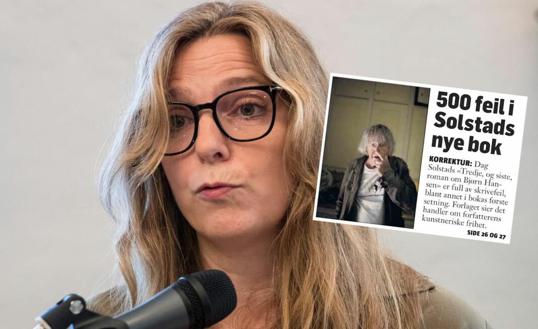 Klassekampen beklager etter kritikk fra forlagssjef Ingeri Engelstad i Oktober. Foto: Vidar Ruud, NTB scanpix / faksimile