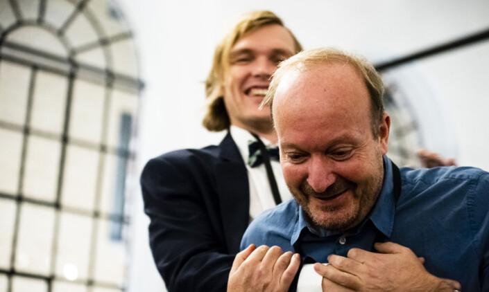 Diplom ble det også til VGs Ronny Berg og Bjørnar Tommelstad (bak). Foto: Annika Byrde / Skup