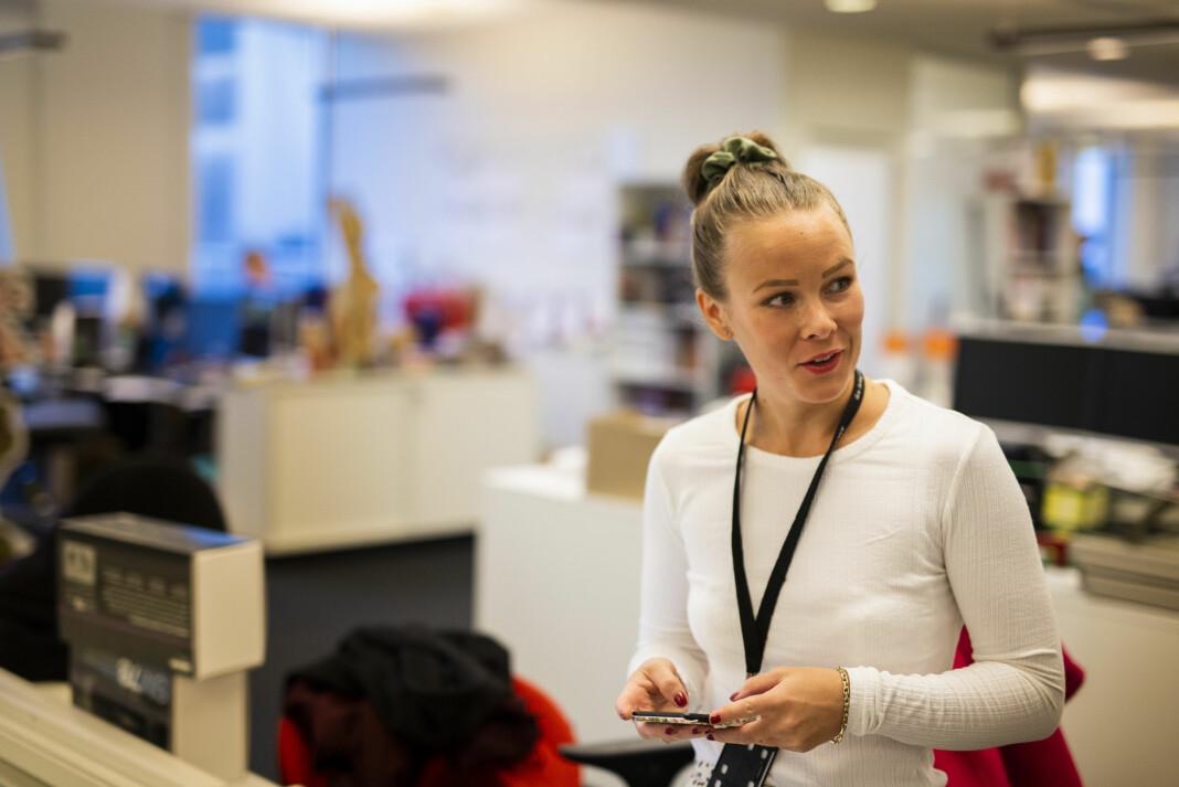 Ansvarlig redaktør og direktør Martine Lunder Brenne i Egmont Publishing, melder at Det Nye ikke lenger vil komme ut på papir. Foto: Kristine Lindebø