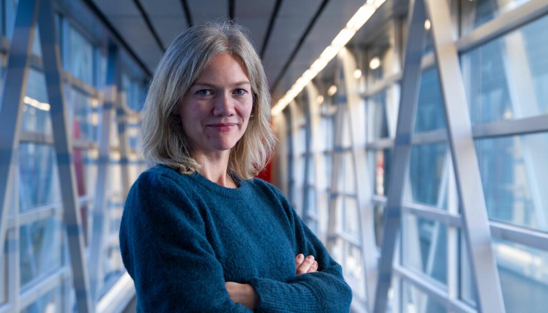 Redaksjonssjef Solveig Husøy svarer om prosjekt «Trigger Warning». Foto: Martin Holvik / NRK