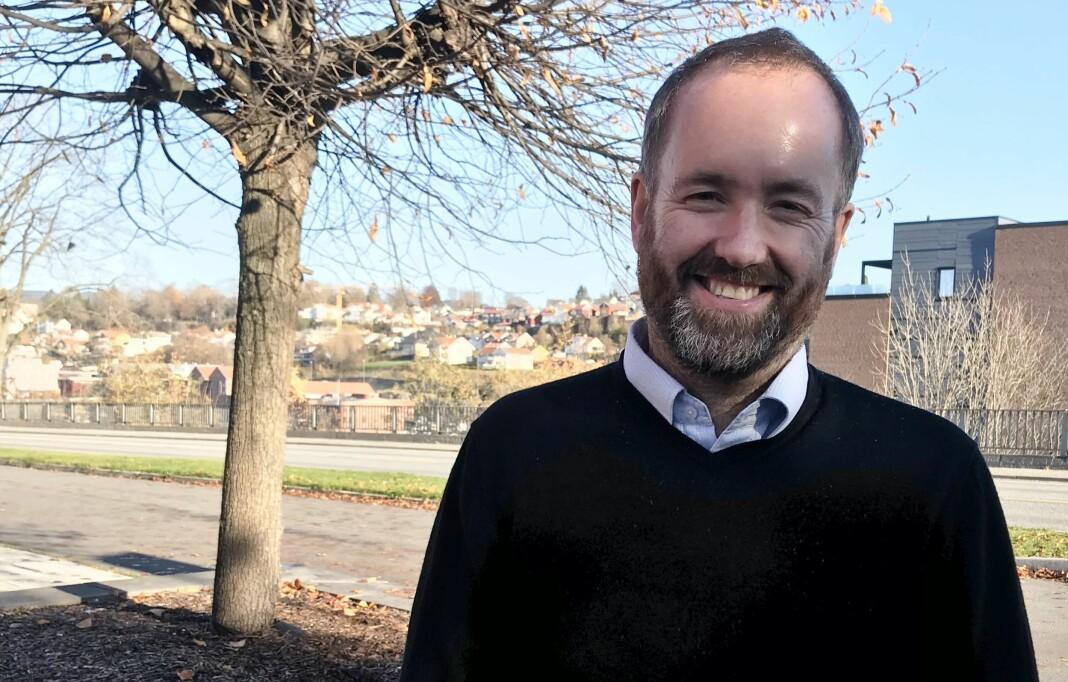 Østlands-Postens nye redaktør, Eirik Haugen, kommer fra stillingen som nyhetsredaktør i Varden. Foto: Amedia