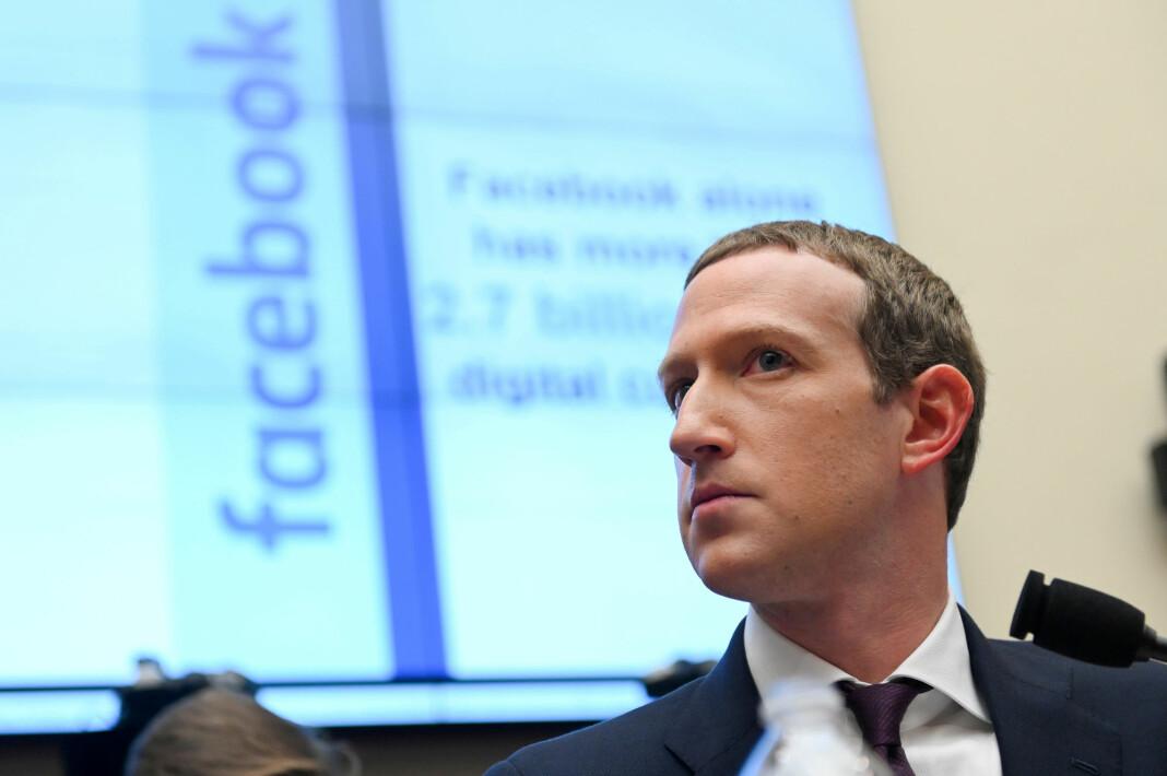Facebook-sjef Mark Zuckerberg fotografert under en høring i Washington tidligere denne måneden. Foto: Erin Scott / Reuters / NTB scanpix