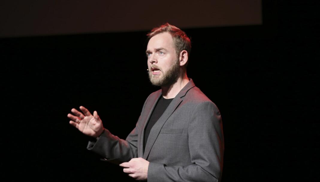 Tore Sagen, her under utdelingen av Brageprisen i 2016, er en av programlederne for Radiosepsjonen. Foto: Vidar Ruud / NTB scanpix