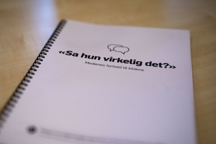 I den ferske rapporten om medienes forhold til kildene tar kildeutvalget til orde for en mer restriktiv sitatpraksis. Foto: Kristine Lindebø