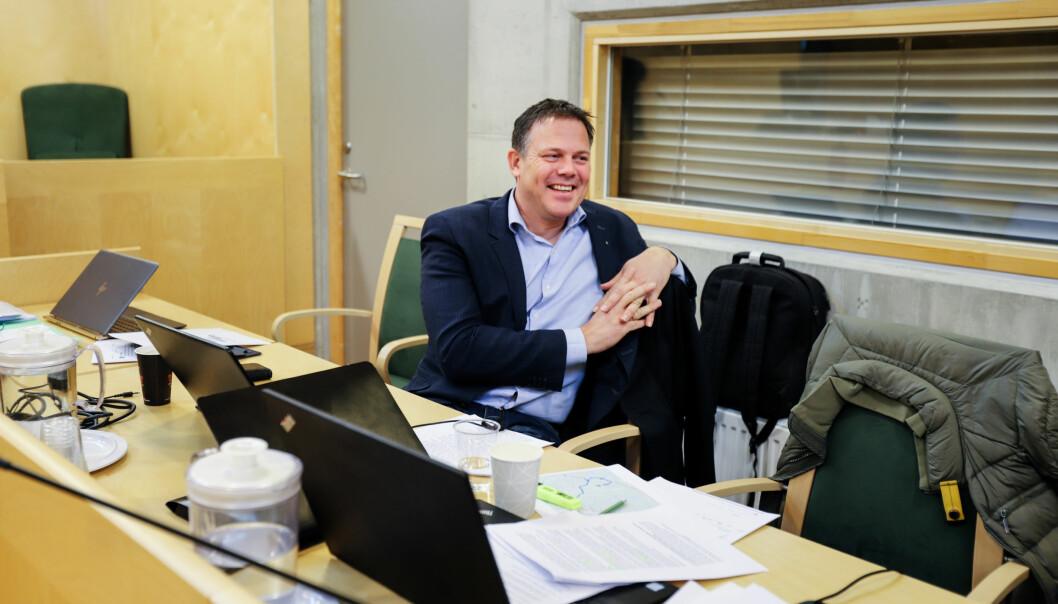 Raumnes-redaktør Fred Gjestad i tingretten. Foto: Nils Martin Silvola