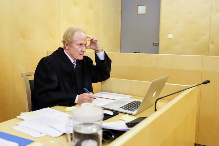 Advokat Per Danielsen i retten. Foto: Nils Martin Silvola