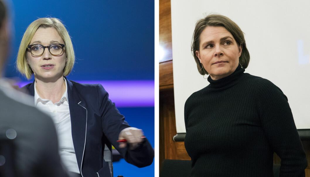Både NTBs nyhetsredaktør Sarah Sørheim og Dagsavisen-kommentator Hege Ulstein er kritisk til Kildeutvalgets rapport. Foto: Vidar Ruud og Terje Bendiksby / NTB scanpix