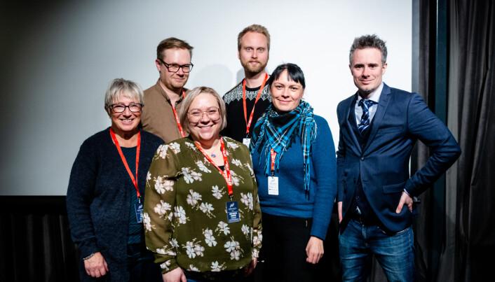 Det nye styret. Fra venstre: Laila Lanes, Lars-Richard Olsen, Ann-Kristin Hanssen, Anne Gro Gaup og Stian Hansen. Linda Vang Sæbbe var ikke tilstede. Foto: Eskil Wie Furunes