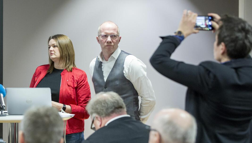 Norsk Journalistlag og Norsk Redaktørforening, her ved NJ-leder Hege Iren Frantzen og NR-generalsekretær Arne Jensen, går inn som medarrangører av Medieundersøkelsen 2020.