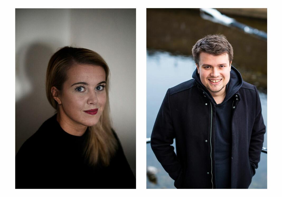 Cicilie S. Andersen og Eskil Wie Furunes får fast jobb som fotojournalister i NRK Nyheter. Foto: Mads Høbye og Kristine Lindebø