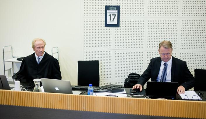 Per Danielsen og Per Kristian Eide i retten. Foto: Eskil Wie Furunes