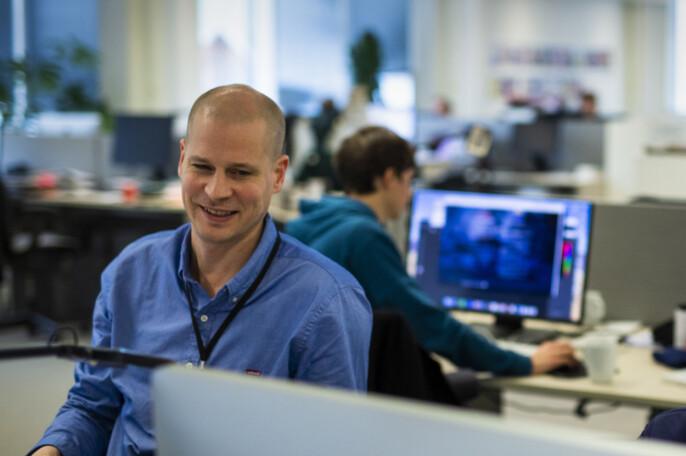 Leder for visuell avdeling i Aftenposten, Eirik Wallem Fossan. Arkivfoto: Kristine Lindebø