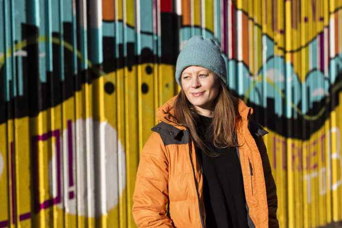 Fotosjef i Klassekampen Anniken Mohr. Foto: Kristine Lindebø