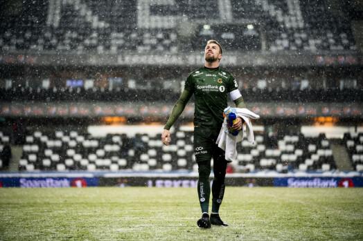 Bodø/Glimts keeper Ricardo Friedrich depper etter å ha sluppet inn 3-2 målet helt på tampen. Foto: Ole Martin Wold / NTB scanpix