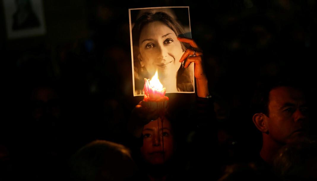Daphne Caruana Galizia var kjent som en uredd gravejournalist og ble drept av en bilbombe I 2017. Foto: Reuters / NTB scanpix