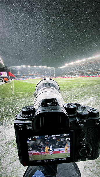 Slik så det ut bak et av de fem kameraene til Ole Martin Wold. Foto: Ole Martin Wold