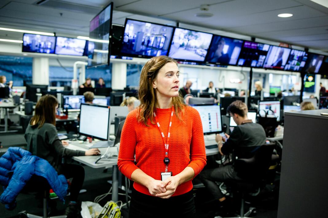 VG er blant mediene som har satset hardt på egen koronastatistikk. På bildet nyhetsredaktør Tora Bakke Håndlykken inne i VG-redaksjonen.