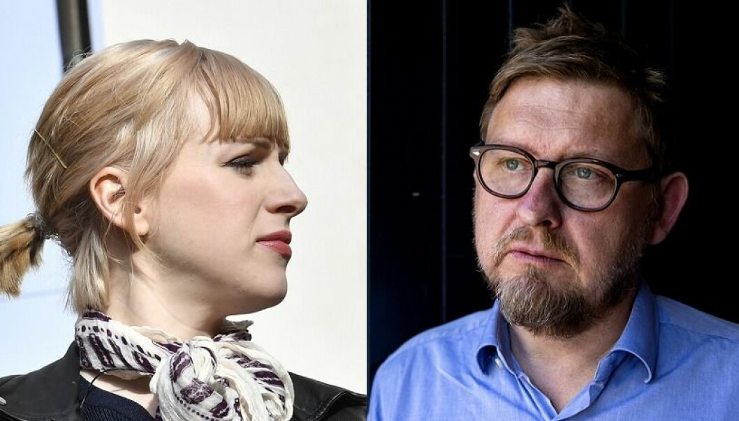 Cissi Wallin ble i dag dømt for ærekrenkelser mot Fredrik Virtanen. Foto: Jonas Ekströmer / Tore Meek / NTB scanpix