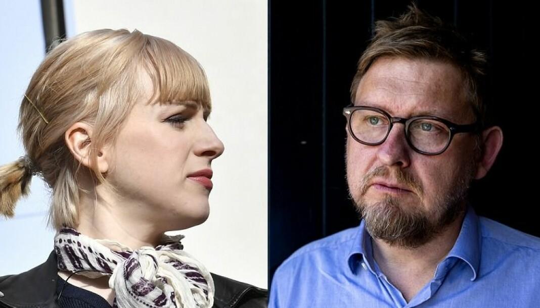 Cissi Wallin står tiltalt for ærekrenkelser mot Fredrik Virtanen. Foto: Jonas Ekströmer / Tore Meek / NTB scanpix
