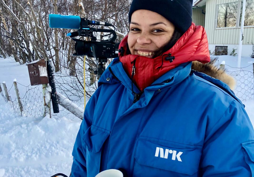 Mariam Eltervåg Cissé er journalist i NRK Finnmark, og hadde sin flaueste opplevelse tre uker etter at hun begynte.