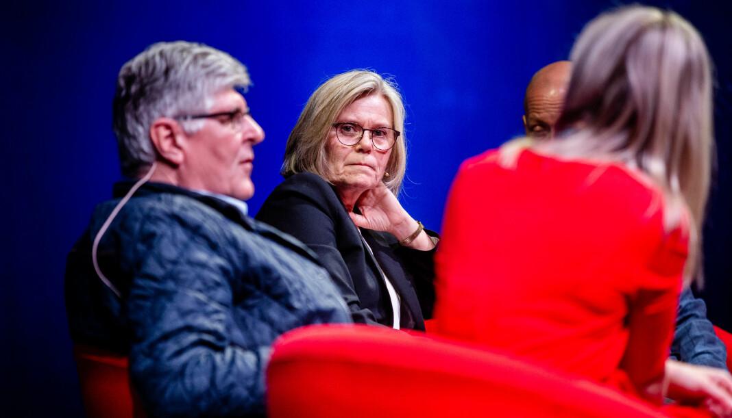 Ada Sofie Austegard, pårørende etter Baneheia-saken og generalsekretær i Stine Sofies stiftelse, liker ikke den nye podkasten fra TV 2. Bildet er fra årets Skup-festival.