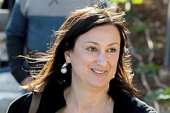 I september 2017 ble gravejournalisten Daphne Caruana Galizia drept av en bilbombe. Foto: Jonathan Borg / AP / NTB scanpix