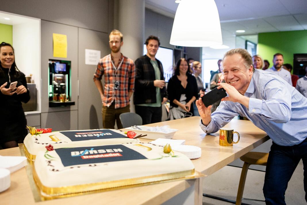 Børsen-journalist Jon Even Andersen foreviger Børsen-kakene som er laget for alle som har lyst på.