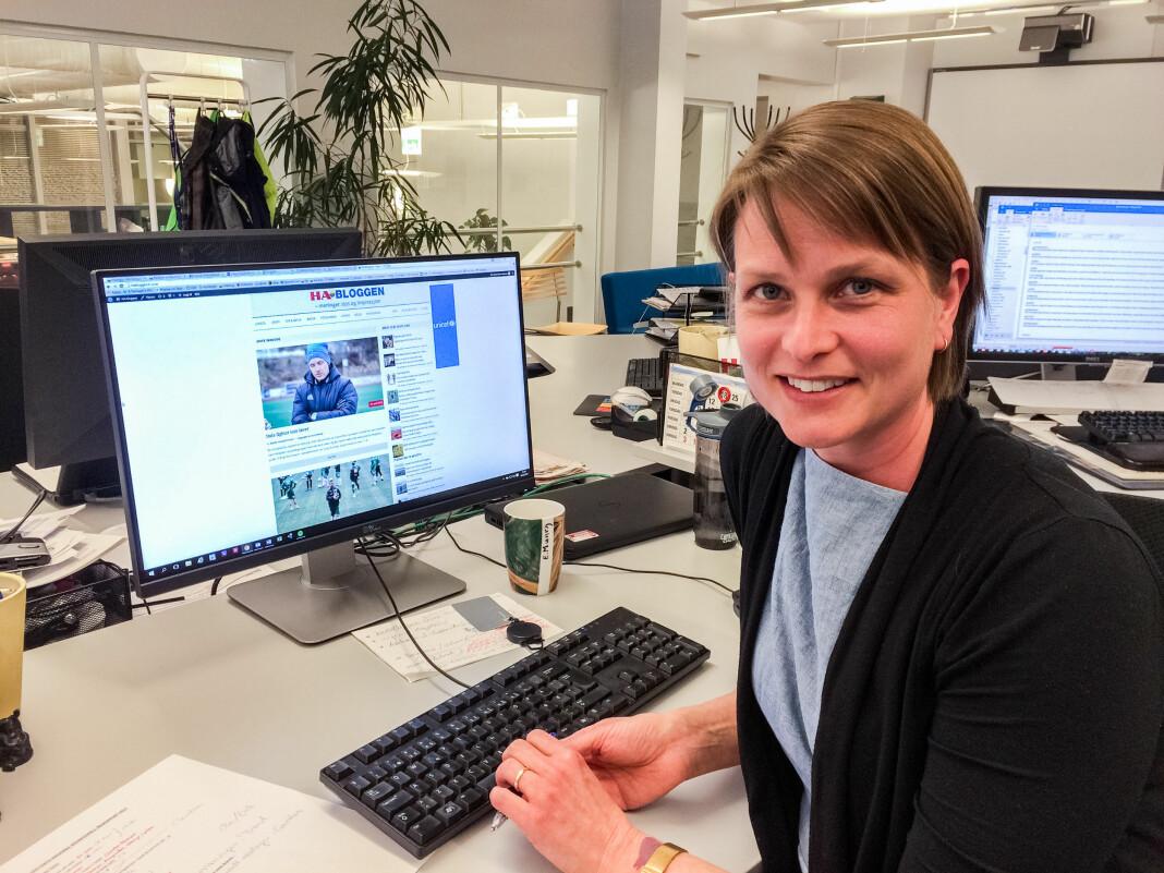 Anne Ekornholmen forlater Hamar Arbeiderblad for ny jobb som politisk redaktør i Nationen.